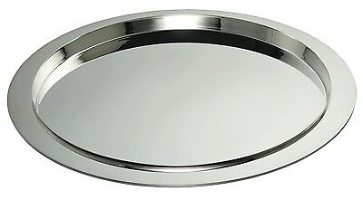 Ercuis Saturne Round Silver Plate Serving Tray 15 Inches Diameter
