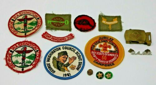 Boy Scouts of America Patch Accessory Pin Lot 13 Vintage Items