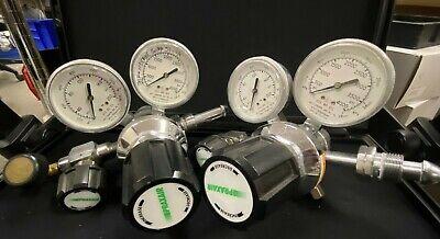 Praxair Control Corporation Of America 2123331-590 Psi Gas Regulator Dual Gauge