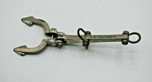 MODEL ANCHOR -  SS RELIANCE  - CHROME - 8 inches long -  VERY COOL PIECE