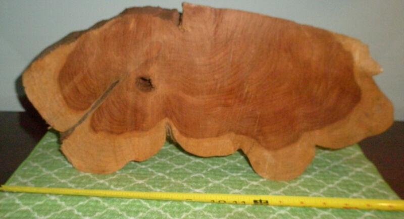 "big Red Cedar Juniperus virginiana slab 18"" 8"" 2"" live edge seasoned slice chunk"