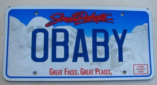 "SOUTH DAKOTA   VANITY AUTO  LICENSE PLATE "" O BABY "" SWEETHEART DARLING HONEY"