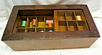Mixture of Wood /& Early Plastic Decorative Bobbins or Spools French Haberdashery Collection Large French Vintage Wood Bobbins with Thread