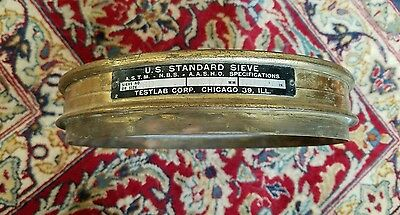 Vintage Brass Us Standard Sieve No.80 Testlab Corp. - Free Shipping