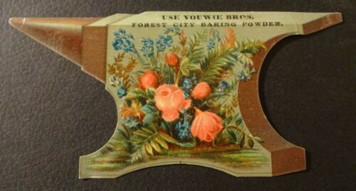 VICTORIAN TRADE CARD YOUWIE BROTHERS BAKING POWER DIE-CUT