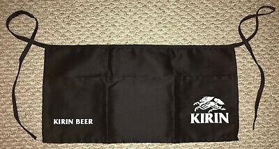 Kirin Beer 3-pocket Black Waist Apron Waiter Waitress Server Bartender
