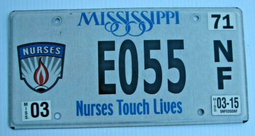 "MISSISSIPPI NURSES TOUCHING YOU UNDER THE COVERS  RN LPN LICENSE PLATE "" E 055 """