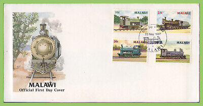 Malawi 1987 Locomotives/Trains set on First Day Cover