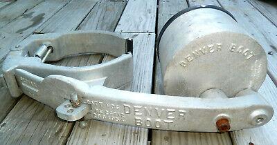 Vintage Aluminum Denver Boot Wheel Lock Car Truck Trailer Atv Tractor Golf Cart