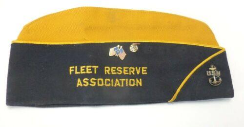 Fleet Reserve Association Cap with Pins USS New Mexico Branch 200 Navy CL1