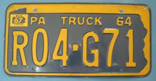 1967 Pennsylvania truck License Plate