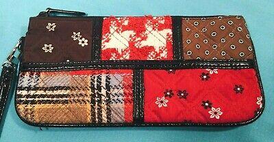 "Vera Bradley Wristlet Clutch handbag 4"" x 8.5"""