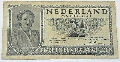 2 1/2 Gulden 1949 Nederlands Gulden Pays bas Netherlands