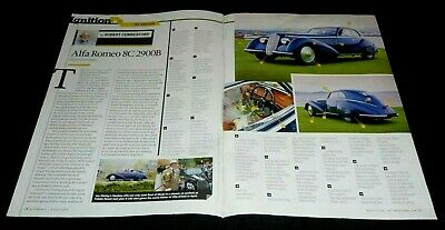 ALFA ROMEO COUPE' 8C 2900B VINTAGE SPORTS CAR ARTICLE- BEST OF