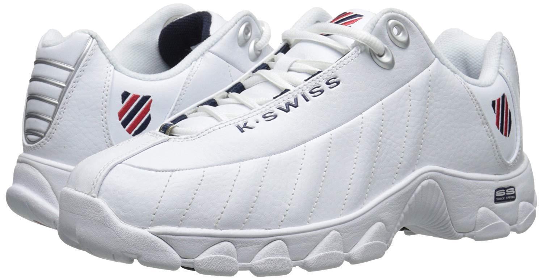 Men K-Swiss ST329 CMF Training 03426-130 White Navy Red 100%