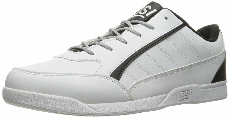 BSI Men's Style #522 White/Black Bowling Shoes Size 6.5
