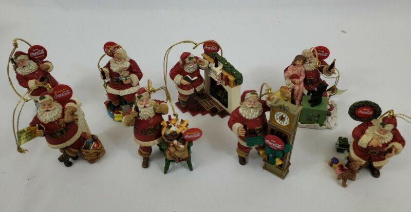 Danbury Mint Coca-Cola Santa Claus Christmas Ornament (Lot of 8) 1999