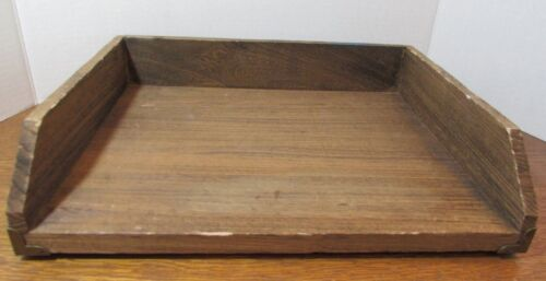 THRESHOLD  Wood PAPER TRAY Letter Size -Classy Home Office Desk Wooden Decor