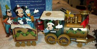 VINTAGE Disney Train Around The Tree Train Set Mickey Christmas Lights Music