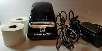 Dymo Label Writer 450 Label Printer With Cables 2 Rolls Of Labels