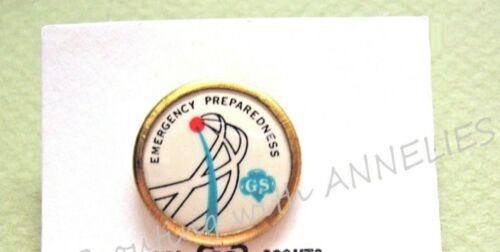 EMERGENCY PREPAREDNESS 1960s Girl Scout Challenge PIN Senior VOLUME DISCOUNT