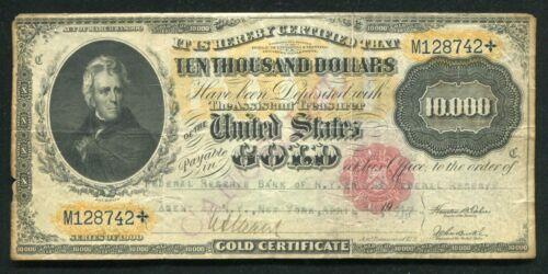 FR. 1225h 1900 $10,000 TEN THOUSAND DOLLARS GOLD CERTIFICATE VERY FINE