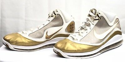 a1ce5327b39 Nike Air Max LeBron White Gold Men s Sneakers US 15 Made In China