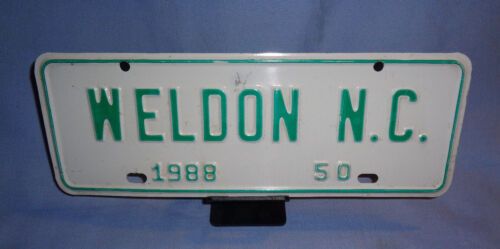1988 WELDON NORTH CAROLINA TOWN / CITY LICENSE PLATE #50 -- TOPPER