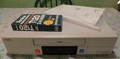 Sanyo Srt-7072 72h Real Time Cassette Recorder 4 Head Rs-232-422 Time Lapse