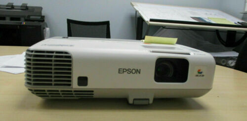 epson powerlite 93+ projector with power cord and hdmi cable.