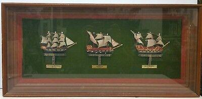 Fragata Espanola Galeaza Navio Espanol Spain Model Ships Framed comprar usado  Enviando para Brazil