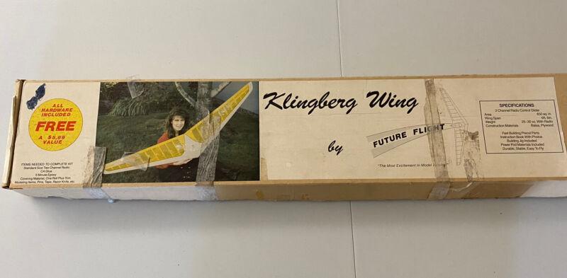 "VINTAGE FUTURE FLIGHT KLINGBERG WING MK II 78"" R/C BALSA MODEL GLIDER KIT"