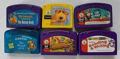 Lot of 6 LeapFrog LeapPad Games