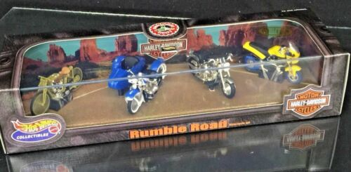 Harley Davidson Hot Wheels Collectibles Limited 25943 Rumble Road 4 Bike Set