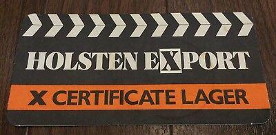 Holsten Export X Certificate Lager Beer Mat