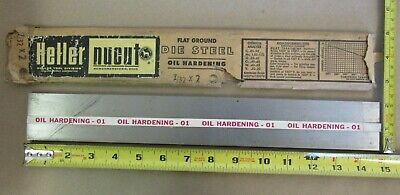 O1 Tool Steel Sheet 732x2x14-34 Heller Nucut Flat Ground Die Steel