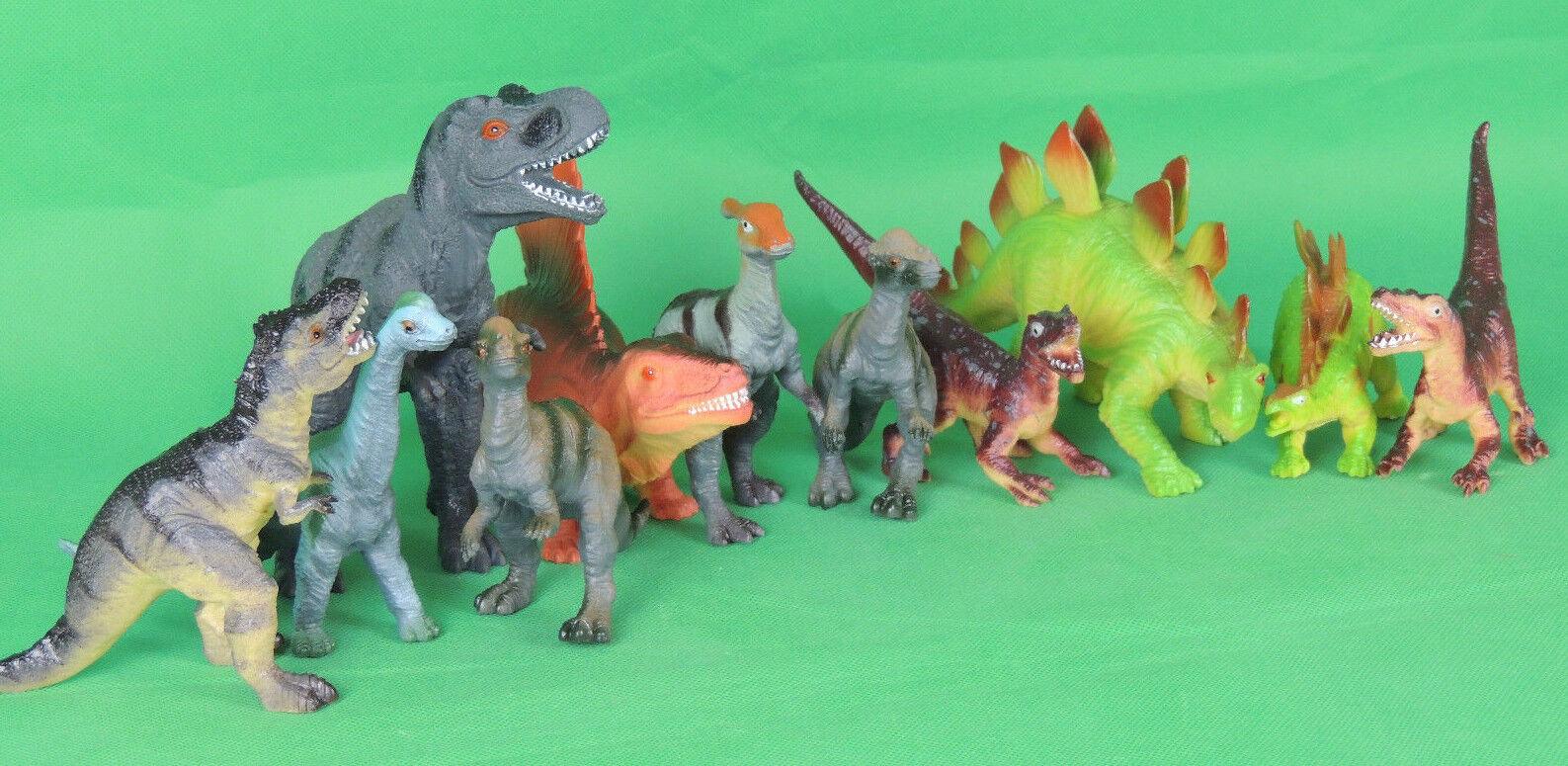 Dinosaurier Dino Set Plastik Dinosaurier Spielfiguren Neu &OVP 11-24cm groß