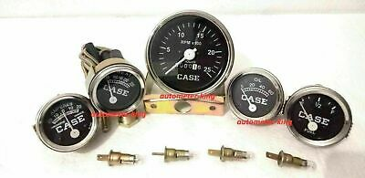 Case Tractor Temperaturetachometer Oil Pressure Ammeter Fuel Gauge Set