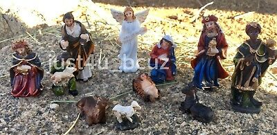 New Christmas Nativity Set Scene Figurines Figures Baby Jesus Nacimiento - Child Nativity Set