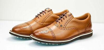 Peter Millar G/Fore Brogue Brown Cog Gallivanter Golf Shoes MF18EF02B