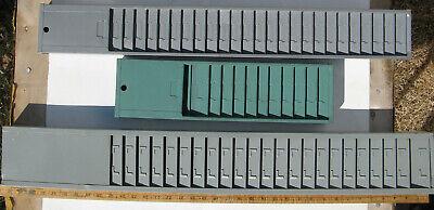 Time Card Holder Rack Lot Wall Mounted 58 Total Pockets Slots Vintage
