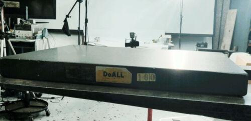 "DoAll Black Granite Surface Plate Grade A 18 x 24 x 4"""