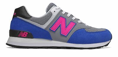 New Balance Men's 574 Shoes Blue with Pink