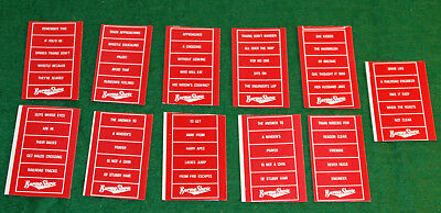LOT OF 11 DETAIL PARTS O SCALE BURMA SHAVE SIGN SETS PRINTED STICKERS  for sale  Montgomery