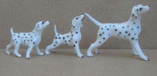 Bone China Miniature Dalmation Family Dog Figurine Set of 3 Japan