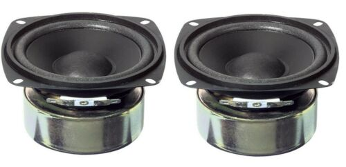 "New pair (2) Replacement 4.5"" 4 1/2"" Shielded Woofer set 4 Ohm Surround Speaker"
