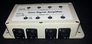 8 way DMX splitter amplifier + power supply UK stock