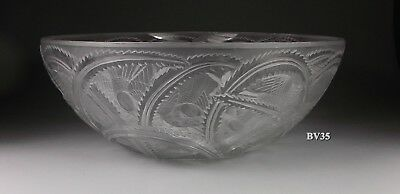 "LALIQUE FRANCE  CRYSTAL PINSON BOWL  9 1/4"" x 3 3/4"" - birds - EXCELLENT"