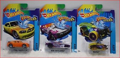 LOT 3 - Hot Wheels COLOR SHIFTERS - Color Changing Diecast Cars 1:64 🌟NEW🌟