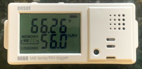 HOBO Data Logger MX1101 Bluetooth Temperature and Relative Humidity RH Onset